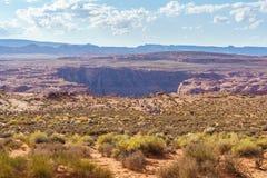 Загиб ботинка лошади, Колорадо в странице, Аризоне США Стоковое Изображение