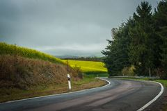 Загиб дороги - Германия Стоковые Изображения
