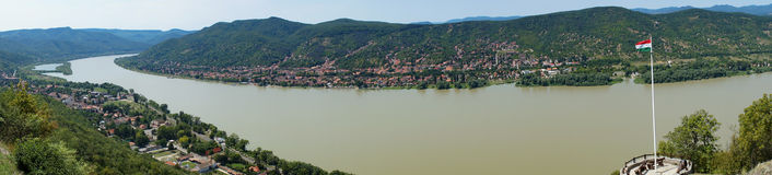 Загиб Дуная Стоковое Изображение RF