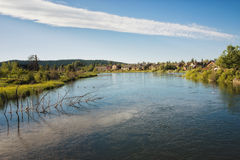 Загиб, Орегон, на реке Deschutes стоковое изображение rf