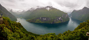 Загиб орла - Geirangerfjord Норвегия Стоковые Фото