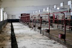 Заглохните для держать животных на ферме стоковое изображение rf