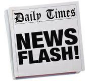 Заголовки 3d Illustrat статьи рассказа отчете о газеты краткого информационного сообщения Стоковые Изображения RF