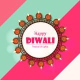 Заголовок 2018 вебсайта иллюстрации Diwali иллюстрация вектора