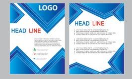 Заголовок листовки деловой компании страницы иллюстрации A4 годового отчета плаката плана буклета обложки журнала шаблона рогульк стоковое изображение rf