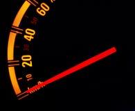 загоранная автомобилем панель ночи аппаратуры Стоковое Фото