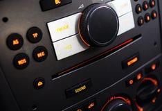 загоранная автомобилем панель ночи аппаратуры Стоковая Фотография