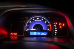 загоранная автомобилем панель ночи аппаратуры Стоковое фото RF