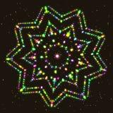 загоранная звезда Геометрическая диаграмма полиэдрон контура Стоковая Фотография