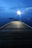 загоранная пристань Стоковая Фотография RF