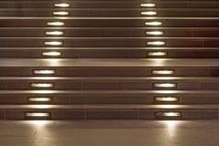 загоранная самомоднейшая лестница Стоковая Фотография