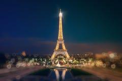 Загоранная Эйфелева башня Стоковые Фото
