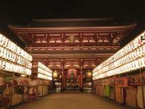 загоранное sensoji ночи Стоковое Фото