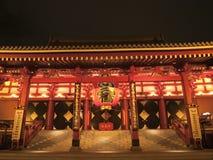 загоранное sensoji ночи Стоковое фото RF