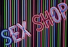 Загоранный знак магазина секса Стоковое Изображение