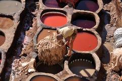 загорать Марокко fes кожаный Стоковое Фото