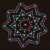 Загоренная Мульти-граненная звезда Геометрическая диаграмма полиэдрон контура бесплатная иллюстрация