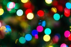 Загоренная предпосылка Bokeh рождества Стоковое Изображение