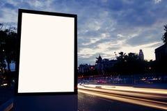 Загоренная пустая афиша с космосом экземпляра для ваших текстового сообщения или содержания Стоковая Фотография