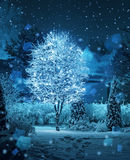 Загоренная фантазия снежностей wintergarden дерева стоковые фото