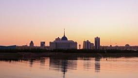 Загоренные света города сигнал astana kazakhstan акции видеоматериалы