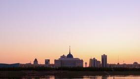 Загоренные света города astana kazakhstan видеоматериал