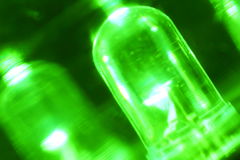 Загоренный зеленый цвет привел в темном взгляде крупного плана Стоковые Фотографии RF