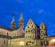 Загоренный собор Бамберга Стоковые Изображения