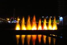 Загоренный фонтан в курорте Батуми, Georgia Стоковая Фотография