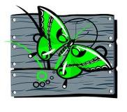 загородка бабочки Иллюстрация штока