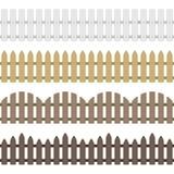 Загородка вектора деревянная иллюстрация штока
