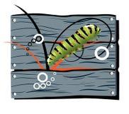 загородка гусеницы Иллюстрация вектора