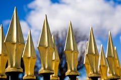 загородка золотистая spiken стоковое фото rf