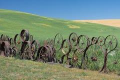 Загородка колеса телеги Стоковые Изображения