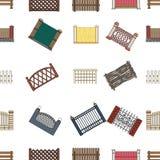 Загородка металла и кирпичей, деревянного палисада и других разнообразий Значки собрания различной загородки установленные в стил Стоковые Фотографии RF