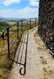 Загородка металла от замка Hazmburk Стоковое фото RF