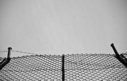 загородка металлическая стоковое изображение