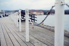 Загородка на пристани Стоковые Фото