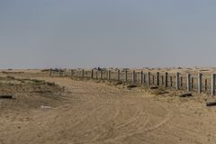 Загородка на пустыне Сахары Стоковое Фото
