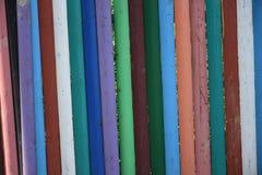 Загородка пестротканых деревянных карандашей Стоковые Изображения RF