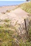 загородка пляжа старая Стоковое фото RF
