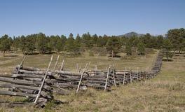 Загородка разделенного рельса стоковое фото rf