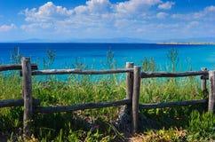 загородка скалы деревянная Стоковая Фотография