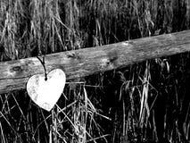 Загородка с деревянным сердцем стоковые изображения rf