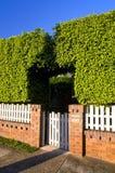 загородка bush кирпичей деревянная Стоковые Фото