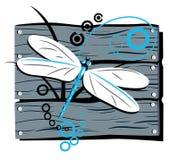 загородка dragonfly Иллюстрация вектора