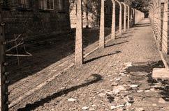 Загородки концентрационного лагеря Освенцима стоковые изображения