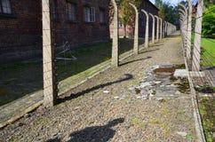 Загородки концентрационного лагеря Освенцима стоковая фотография