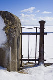 Загородка воинского форта в зиме Стоковое Фото