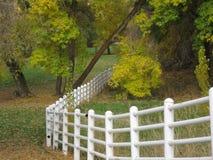 Загородка замотки на парке Стоковая Фотография